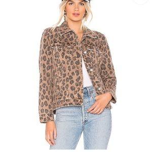 BLANK NYC Leopard Denim Jacket XS
